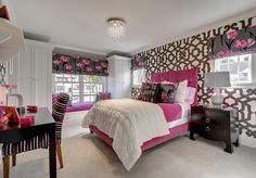 Teen Bedroom Ideas. Any teen would love this bedroom.