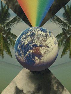 world art collage
