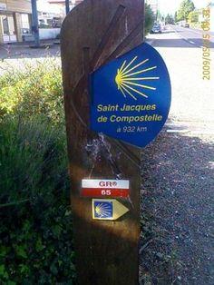 Borne jacquaire Arzacq-Arraziguet dans les Pyrénées-Atlantiques