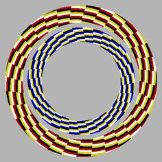 Moving Optical Illusions - Moving Rings, they appear to move outward. Types Of Optical Illusions, Optical Illusion Gif, Art Optical, Illusion Art, Op Art, Creative Logo, Eyes Game, Eye Tricks, Illusion Pictures