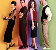 Will and Grace. Jack & Karen were the BEST! Love to be Karen for a day- or a month, or a year...