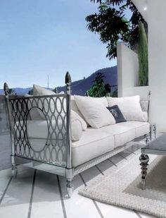 Stunning Outdoor Sofa Fancy Design 🇮🇹MadeInItaly Order:  ✍🏻dxb@superbiadomus.