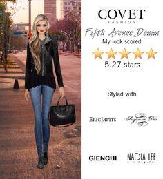 Fifth Avenue Denim @covetfashion #covet #covetfashion #covetfashionapp #fashion #womensfashion #covetwinter2015 #winter2015 #denim #fifthavenuedenim #gienchi #calvinklein #aline #ericjavits #vincecamuto #nadialee #suzannadai