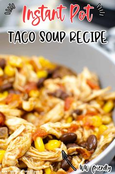 This amazing Taco Soup recipe that is perfect for the colder nights and cooler weather. Add on a few toppings and your meal is ready! Best Instant Pot Recipe, Instant Recipes, Instant Pot Dinner Recipes, Low Carb Soup Recipes, Healthy Soup Recipes, Beef Recipes, Best Pressure Cooker Recipes, Using A Pressure Cooker