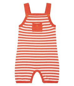 Sense Organics & friends in cooperation with GARY MASH - Baby Latzhose aus Strick Baby Feeding, Orange, Rompers, Friends, Grad, Tops, Products, Fashion, Child Care