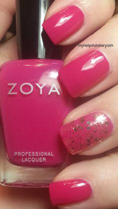 Zoya Dana with OPI Pop The Cork!