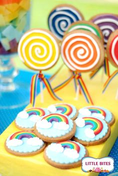 #rainbow #party edible #favours