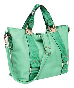 Look at this Mint Bretta Shoulder Bag on #zulily today!