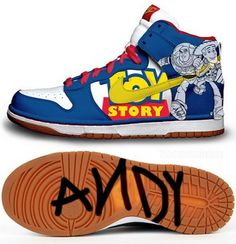 Nike Dunk High Toy Story Andy Shoes  Must have <3