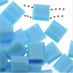 MIYUKI TILA 2 HOLE SQUARE BEADS 5MM OPAQUE TURQUOISE BLUE 72 GRAMS from beadaholique.com