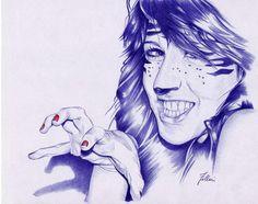 Ballpoint pen artist Matteo Felloni (Italian: 1976 - ) | Anna Cormio (February 2012) #pen #pens #penart #ballpointpen #ballpoint #art #drawing Biro, Ballpoint Pen Drawing, Fineliner Pens, Pen Art, Fountain Pen, Toll, Pen Drawings, Paper