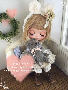 Custom Blythe Dolls: Choco Tea Spring Rabbit Custom Blythe - A Rinkya Blog