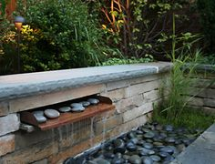 West Town Urban Garden: A copper water feature with Mexican beach pebbles Backyard Pool Landscaping, Landscaping With Rocks, Landscaping Ideas, Landscape Lighting Kits, Landscape Edging, Urban Landscape, Beautiful Landscape Photography, Water Features In The Garden, Cool Landscapes