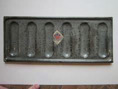 L&G American Gray Graniteware Ladyfinger Pan w/Original Paper Label - NM Gray Granite, Lady Fingers, Pewter, Label, The Originals, American, Antiques, Grey, Tin