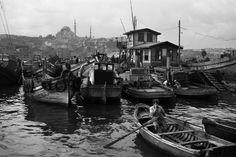 Turkey, 1956, Boatmen at the repair wharf, photo by Ara Güler (please repin with photographers credits)