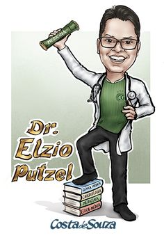 Caricatura para formatura de Medicina #senior #graduation #party #caricature