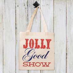 British 'Jolly Good Show' Tote Bag - Not On The High Street Price: £12