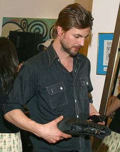 Gale Harold with adidas wrestling shoe