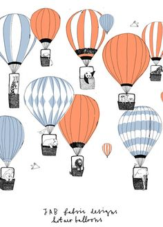 Hot air balloons by Charlotte Farmer