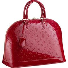 Louie Vuitton Leather Bags Monogram Vermis Red Leather M68911