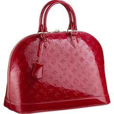 Louie Vuitton Leather Bags Monogram Vermis Red Leather M68911