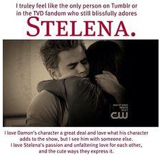 The Vampire Diaries   Stelena, but don't freak out. I still fucking love Delena.