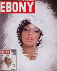 Mary J. Blige channels Diana Ross in this 1970′s re-created cover from Ebony Magazine. For this photo shoot she is adorned in White Ostrich Boas provided by the The Feather Place showroom in Los Angeles.