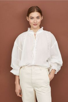 Bluză creponată - Alb - FEMEI | H&M RO 1