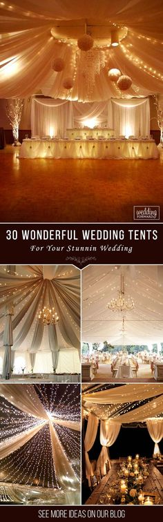 30 Wonderful Wedding Tent Ideas For A Wedding ❤ Look at the best wedding tent ideas that impress you. Everything should be perfect for your special day. Wish you pleasant viewing and happy planning. See more: http://www.weddingforward.com/wedding-tent/ #wedding #decorations