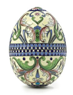 Photo of Russian silver Easter Egg for fans of Easter. A Russian Gilded Silver and Shaded Enamel Easter Egg