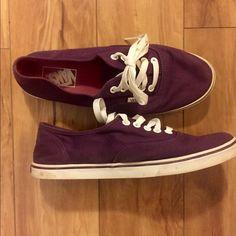 Purple classic Vans Great low top purple vans. Rarely worn Vans Shoes Sneakers
