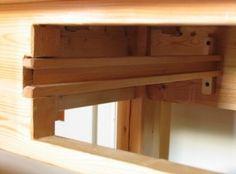 Wooden drawer slides Diy Storage Drawers, Diy Garage Storage, Diy Kitchen Cabinets, Wood Cabinets, Woodworking Projects Diy, Woodworking Bench, Wood Drawer Slides, Wood Tool Box, Dresser Plans