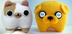 Adventure Time Jake the Dog and Cake the Cat  Baby by Plushimi, $70.00
