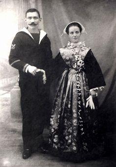 Lorient - Marin et son épouse, Morbihan, Bretagne, France