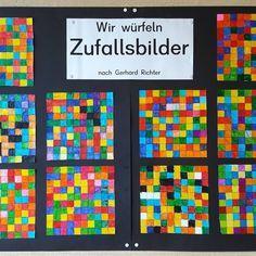 """️ Werbung unbezahlt """"ZUFALLSBILDER"""" nach Gerhard Richter Dieses Bild habe ich mit meiner 2. Klasse gemalt, ist aber auch für jede"""