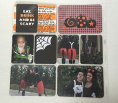 ctmh halloween project life layouts