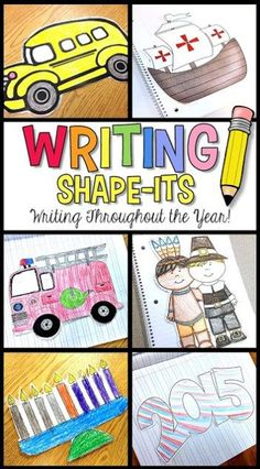Writing Shape-Its: Writing Throughout the Year! Simply Skilled in Second A Teaching Blog for 2nd & 3rd Grade Teachers