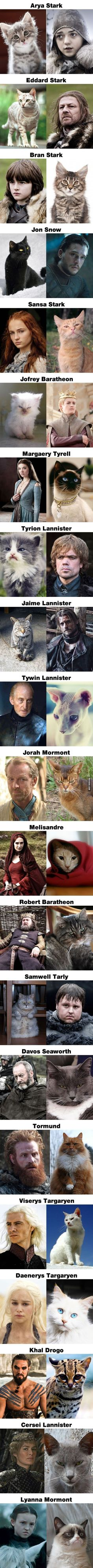 If Game of Thrones Characters Were Cats