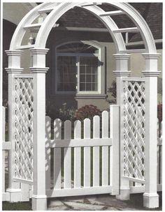Cottage Picket Arbor Gate (Gate Only) Arbor Gate, Garden Arbor, Garden Gates, New England Arbors, Garden Architecture, Garden In The Woods, Natural Garden, Climbing Roses, White Gardens