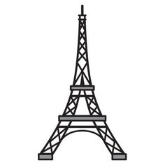 """eiffel tower -Marianne Design Craftables Die Eiffel Tower - Paris Approx measurements: Size:"""" x """" at base. New Craftables . These are beautiful cutting and embossing stencils, the same excellent quality as the Creatables, but with more creative fun. Eiffel Tower Craft, Eiffel Tower Drawing, Image Tour Eiffel, Boli 3d, Eiffel Tower Silhouette, Tour Eifel, Geometric Stencil, Paris Birthday, Tower Design"""