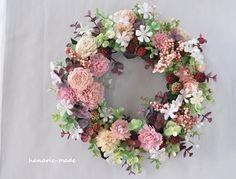 ハンドメイドマーケット minne(ミンネ)  フランボワーズとピンクの実:wreath