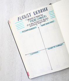 Bullet Journal: My September setup + August debrief!