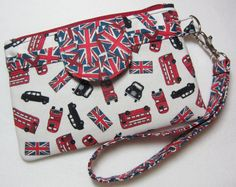 London Transportation Icons / Union Jack / by EarlyBirdStitches, $25.00