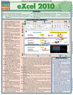 Because Excel 2010 has many more features than Excel 2007 or XP, our 6-page guide will be a handy resource for beginning, intermediate or advanced end-users of the software. Jam-packed with information and helpful, time-saving hints, this guide features easy-to-read tables, screen captures and icons