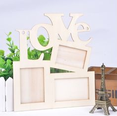 3 in 1 Photo Frame Hollow Love Wooden White Base DIY Picture Frame Art Decor keywords: Photo Frame, Picture Frame Art, Picture Cards, Home Design Decor, Art Decor, Wedding Photo Pictures, Baby Photo Frames, Shops, Wedding Frames, Love Photos