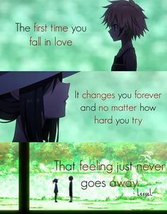 المرة الأولى  التي تقع فيها في الحب ستغيرك للأبد ولا مسألة أصعب من أن تحاول إبعاد هذا الشعور عنك ولا يبتعد Tokyo Ravens