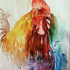 Watercolor by Aynur Akalin Horse..