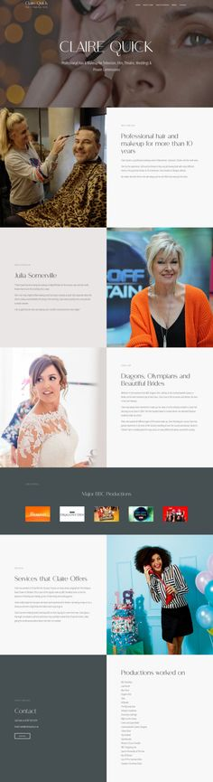 Website design for professional hair and makeup artist Hair And Makeup Artist, Hair Makeup, Olympic Athletes, Professional Makeup Artist, Quick Hairstyles, Professional Hairstyles, Chester, Claire, Web Design