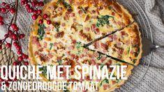 RECEPT: Quiche met spinazie en zongedroogde tomaat   OhMyFoodness
