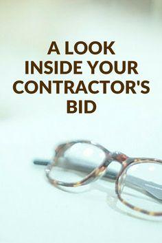 Contractor's bids can be confusing. Let's break it down a little bit.